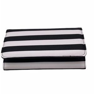 Kut from the Kloth Black and White Trifold Wallet